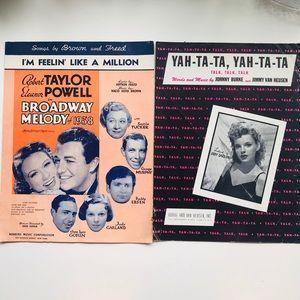 Vintage Sheet Music ft Judy Garland